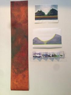tirage jet d'encre 2,50 x50 cm et Aquarelles