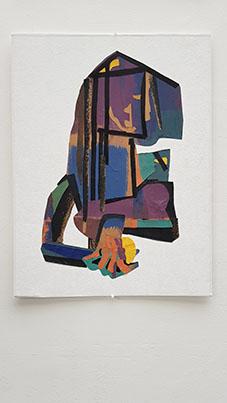 3/10 Déambulatrices 80x60 cm peinture collage