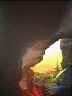 PEINTURE (1998): Série « Vue de la grotte », Envol
