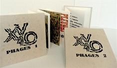 Leporello Xylophages 1 et 2, eau forte et typographie bois et plomb