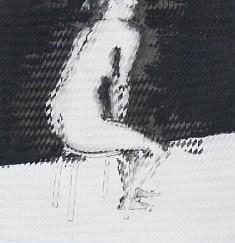 Nu évanescent (Femme assise) - 2015 - Encre de chine - 50,4 x 50 cm