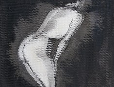 Nu évanescent I - 2015 - Encre de chine - 70 x 90 cm