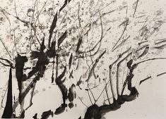 Prunier - 2016 - Encre de Chine - 50 x 70 cm