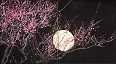 Nocturne III - 2018 -Pigments japonais, colle de cerf et feuilles d'or - 27,3 x 24,2 cm x 2