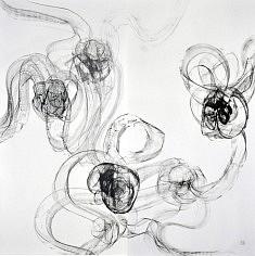 La fugue - 2012 - Encre de chine - 138 x 140 cm
