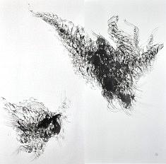 La conversation - 2012 - Encre de chine - 138 x 140 cm