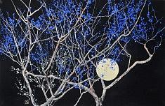 Nocturn II - 2016 - Pigments japonais, colle de cerf, feuilles d'or - 65,2 x 50 cm x 2