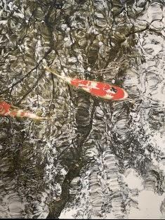Arrêt du temps - 2020 - Pigments japonais, colle de cerf et encre de Chine - 65,2 x 50 cm