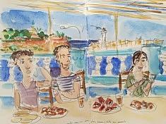 repas a Tipasa, carnet Alger, mai 2017