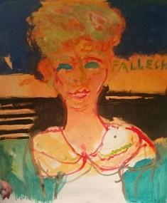 Nina, Fallecio, tech mixtes sur toile, Cuba, mai 2016