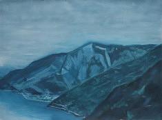 Anarchia in montagna, huile sur papier, 76 x 56cm, 2021