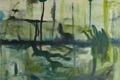 Anima II, gouache et huile sur papier, 76 x 50cm, 2019