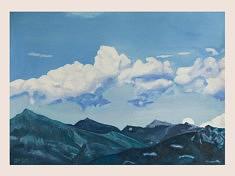 Der Himmel über dem See II, huile sur papier, 70x50cm, 2020