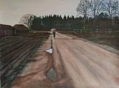 Rambouillet II,  huile sur papier, 100 x 70cm, 2020