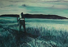 Remembering I,  huile sur papier,  100 x 70cm,  2020