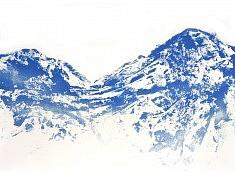 Bleu 4 - acrylique sur toile 60 x 80 cm