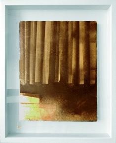 Bois - acrylique sur bois 52 x 42 cm, encadré (caisse vitrée)