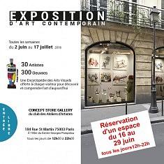 Exposition à la Galerie (éphémère) Concept Store avec le Club des Ateliers d'Artistes.