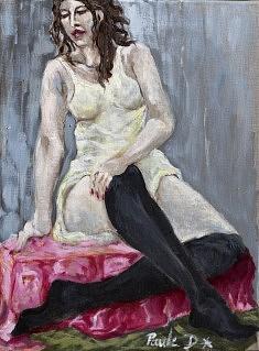 Le repos de la danseuse Huile sur toile (40 x 50)