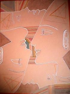 Les âmes soeurs, 24x32cm, crayon, feutre/papier