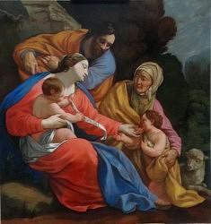 La sainte famille de Simon Vouet copie 2018 Louvre