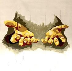 Accueillir - Acrylique sur toile - 130x130 cm