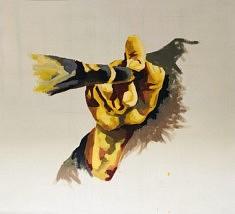 Peindre - Acrylique sur toile - 130x130 cm