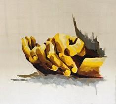 Prendre soin - Acrylique sur toile - 130x130 cm