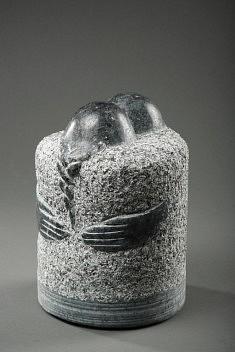 Couple à la tresse. granit du Labrador, 30 cm, 2011