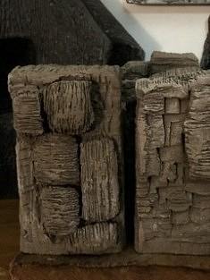 De la série «Sites», sculpture puzzle en grès chamotte émaillée, 24x21x16, Paris 2018