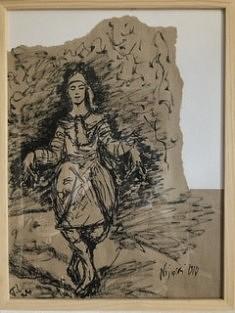 De la série «Petits dessins du Mouvement», Encre de chine sur papier kraft, Paris 2019