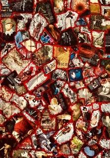De la série «Réparation-Résurrection», Collage marouflé sur toile, 183x165, Angers 2018