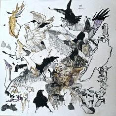 Les Oiseaux 5 - encre sur papier (40 x 40 cm)