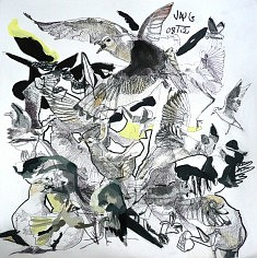 Les Oiseaux 6 - encre et acrylique sur papier (40 x 40 cm)