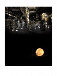 """""""7ème ciel - 0h"""" , photomontage - tirage sur papier mat satiné 30 x 40 cm"""