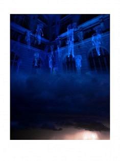 """""""7ème ciel - 3h"""" , photomontage - tirage sur papier mat satiné 30 x 40 cm"""