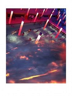 """""""7ème ciel - 5h"""" , photomontage - tirage sur papier mat satiné 30 x 40 cm"""