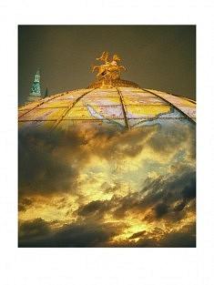 """""""7ème ciel - 6h"""" , photomontage - tirage sur papier mat satiné 30 x 40 cm"""