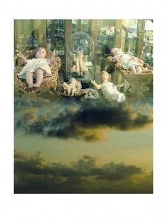 """""""7ème ciel - 7h"""" , photomontage - tirage sur papier mat satiné 30 x 40 cm"""
