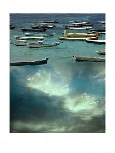 """""""7ème ciel - 8h"""" , photomontage - tirage sur papier mat satiné 30 x 40 cm"""