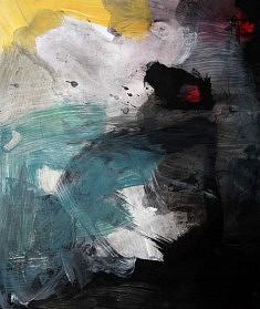 """""""BlackSerieXV-02"""", acrylique sur papier 32 x 38 cm"""