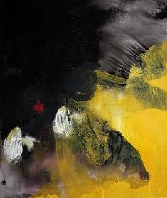 """""""BlackSerieXV-03"""", acrylique sur papier 32 x 38 cm"""