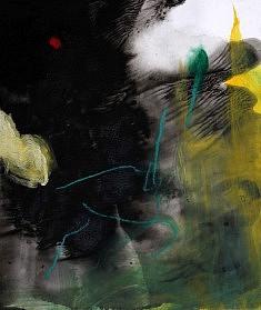 """""""BlackSerieXV-04"""", acrylique sur papier 32 x 38 cm"""