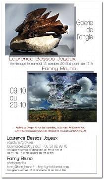 3D/2D Galerie de l'angle - 45 rue des Tournelles - Paris http://sortir.telerama.fr/evenements/expos/laurence-bessas-joyeux-fanny-bruno,143271.php  Du 9/10 au 20/10 2013